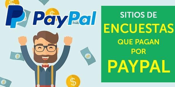 sitios de encuestas que pagan por paypal