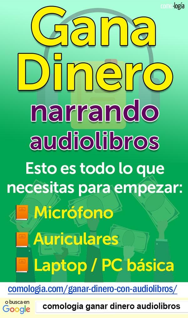 ganar dinero leyendo audiolibros