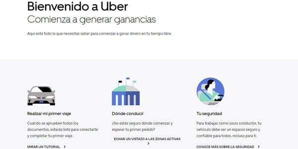 pagina landing uber
