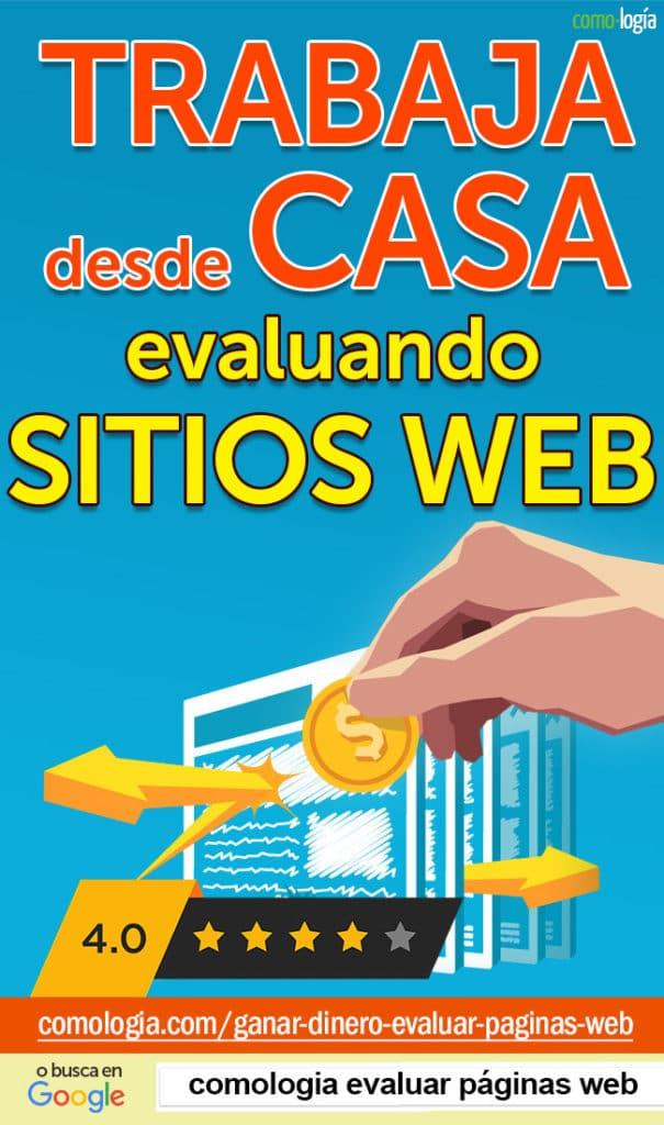 trabajar evaluando sitios web paginas