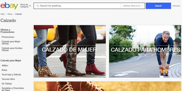 vender zapatos ebay