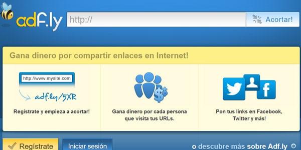 adfly ganar dinero enlaces cortos url